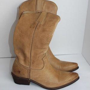 FRYE 77710 Tan Cowgirl Cowboy Western Boots